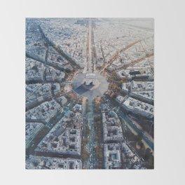 Arc De Triomphe, Paris Throw Blanket
