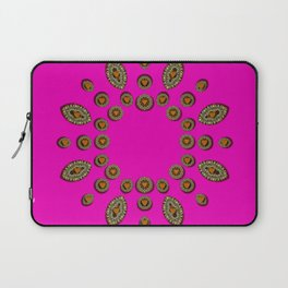 Sweet hearts in  decorative metal tinsel Laptop Sleeve