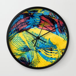 Yellow Thumbprint Wall Clock