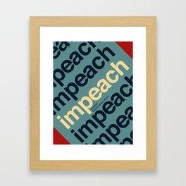 Impeach President Barack Obama Framed Art Print