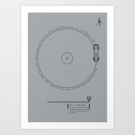 Voyager Golden Record Fig. 1 (Gray) Art Print