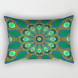 Fractal jewel mandala Rectangular Pillow
