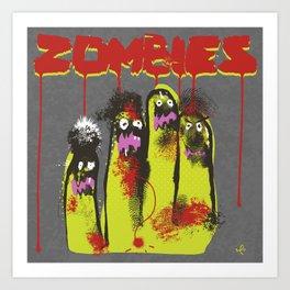 Zombie attack! Art Print