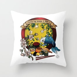 Soy Mates Throw Pillow