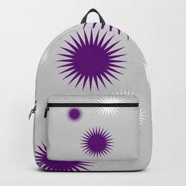 Star Burst Galaxy - Purple Grey White Backpack