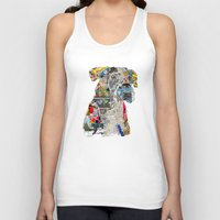 mod Tank Tops featuring the mod boxer by bri.buckley