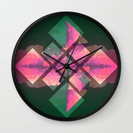 Square Clouds Wall Clock
