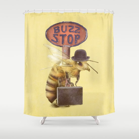 Worker Bee (colour option) Shower Curtain