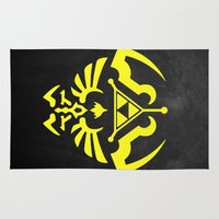 hyrule Area & Throw Rugs featuring Hyrule Shield  by WaXaVeJu