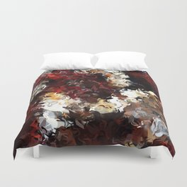 Jasmine and Columbine Abstract Duvet Cover