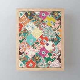 sarilmak patchwork Framed Mini Art Print