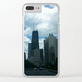 John Hancock Building Lakeshore Drive Clear iPhone Case