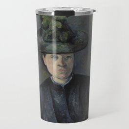 Madame Cézanne with Green Hat Travel Mug