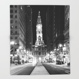 Philly by Night Throw Blanket