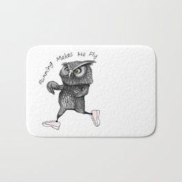 Running owl Bath Mat