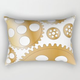 Cogs and Gears Rectangular Pillow