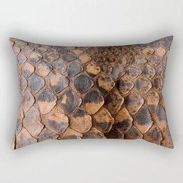 Real Snake Skin Snakeskin Animal Print Rectangular Pillow