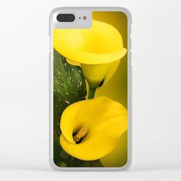 Calla Lily Bright Yellow Lives Bokeh Clear iPhone Case