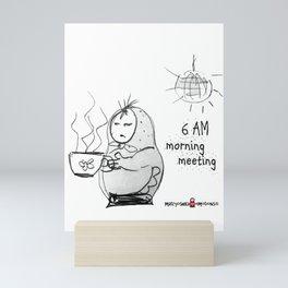 SKETCHY MORNING Mini Art Print