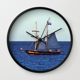Quebec Sailboat Wall Clock