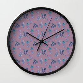 Purple Cactus Wall Clock