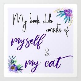 My Book Club Art Print