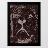 The African Lion Art Print
