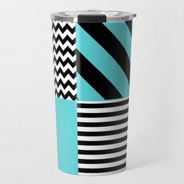 Blue B&W Travel Mug