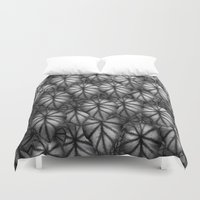 rare Duvet Covers featuring Rare Jungle, Silver Shades by Lindel Caine