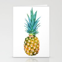 pineapples Stationery Cards featuring Pineapples by Yilan