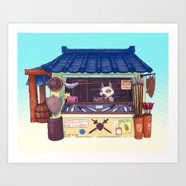 Weapons Shop - Siamese Cat Art Print