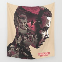 StrangerThings Double Exposure Wall Tapestry