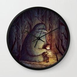 Monster A friend little girl Wall Clock