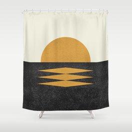Sunset Geometric Shower Curtain