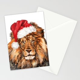 Christmas Lion Stationery Cards