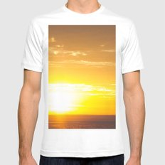 Sunrise in New Mexico Mens Fitted Tee White MEDIUM