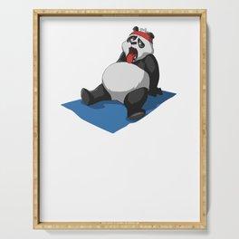 Panda Yoga T-Shirt Gift I Funny Fitness Tee Serving Tray