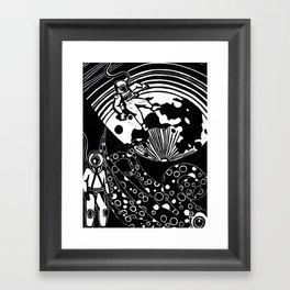 Deep Sea Meets Deep Space Framed Art Print
