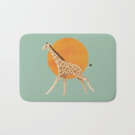 Giraffe and Sun Bath Mat