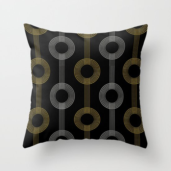 GUITAR IN ABSTRACT GS  (art deco) Throw Pillow