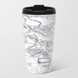 Footprint of a Shark Travel Mug