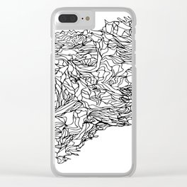 lines draw Clear iPhone Case
