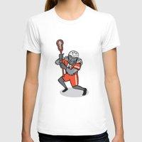 lacrosse T-shirts featuring Gorilla Lacrosse Player Cartoon by patrimonio