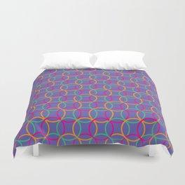 Colorful rings Duvet Cover