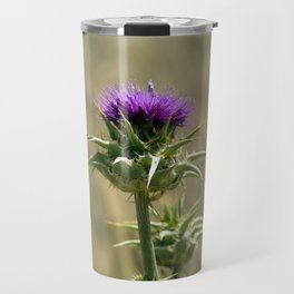 Purple thistle Travel Mug