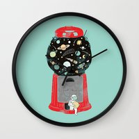universe Wall Clocks featuring My childhood universe by I Love Doodle
