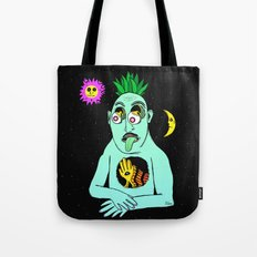Trippy Face Tote Bag
