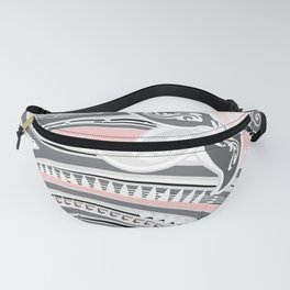 Polynesian Tribal Pink Threads Fanny Pack