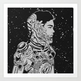 Space Nouveau Art Print