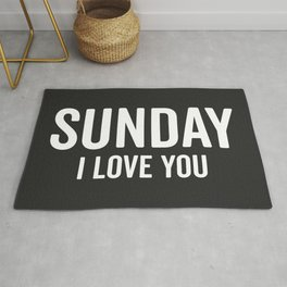 Sunday Love Funny Quote Rug